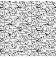 seamless pattern of leaves black and white vector image