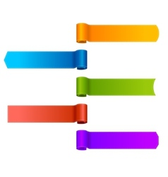 set ribbons banners vector image