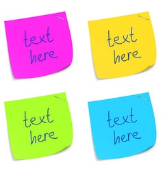 Set sticky memo notes vector