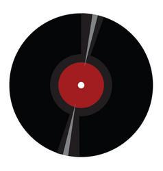 simple of a black vinyl record on white background vector image