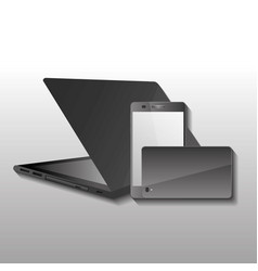technology gadget wireless laptop and mobiles vector image