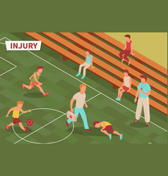 Teenage sport injury composition vector