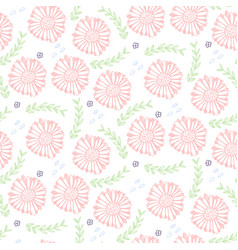 tender floral pattern with light pink flowers vector image