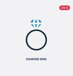two color diamond ring icon from woman clothing vector image