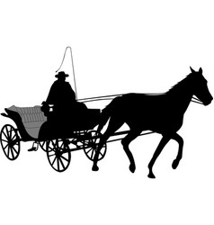 Vintage carriage silhouette 2 vector