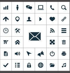 web ui icons universal set for vector image