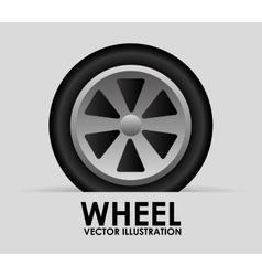 wheel tire vector image