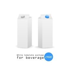 white paper template milk vector image