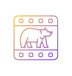wildlife documentary gradient linear icon vector image