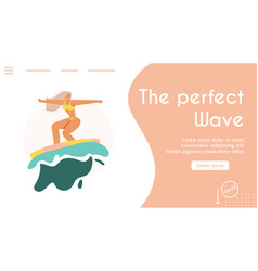 Young people riding on surfboards set vintage vector