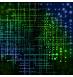 Abstract conceptual technology-style design-matrix vector image