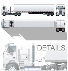 semi truck vector image vector image