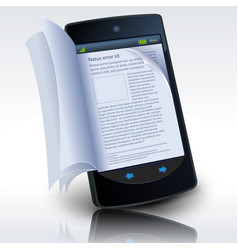 smartphone e-book vector image