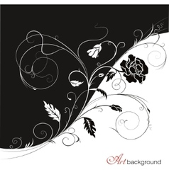 Background with poppy vector image