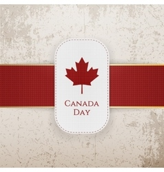 Canada Day paper Badge with red Ribbon vector image vector image