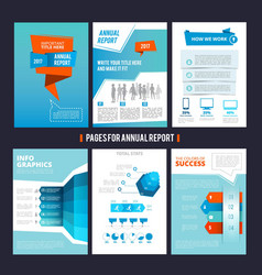design template of corporation annual report vector image vector image