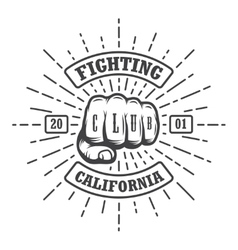 Hipster emblem about fighting club vector