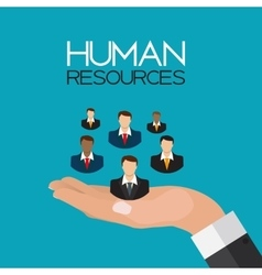 Human Resources Concept Flat Design vector image