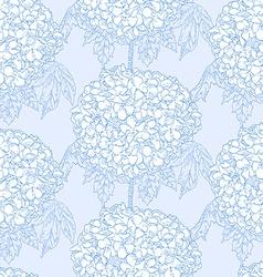 Hydrangeas seamless pattern vector image