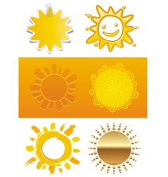 Set of a sun vector image