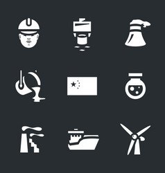 Set of china industry icons vector