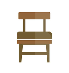 stylish retro seat with back icon vector image vector image