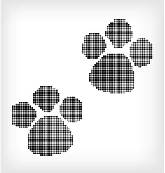 White background with black ink footprint vector image