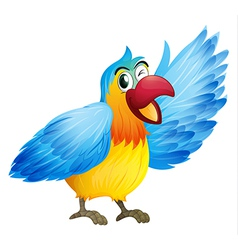 A smiling parrot vector image vector image