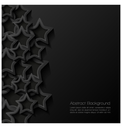 Abstract modern star background vector image vector image