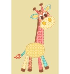 application giraffe vector image vector image
