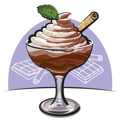 chocolate mousse vector image