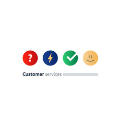customer services feedback survey quiz concept vector image vector image