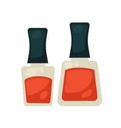 flasks with nail polish vector image vector image