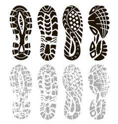 foot print vector image vector image
