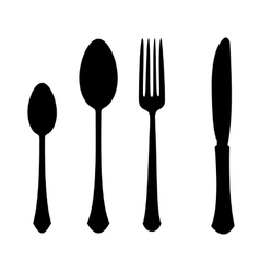 fork spoon knife vector image vector image
