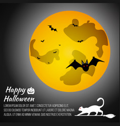 Halloween moon on grey background vector