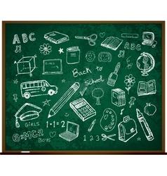 set of school doodle s vector image