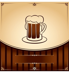 Beer tankard graphic with place for text vector image