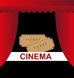 Cinema theater tickets background vector image