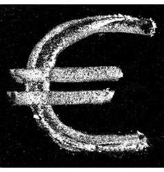 Euro sign lettering vector image