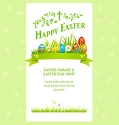 green template easter vector image