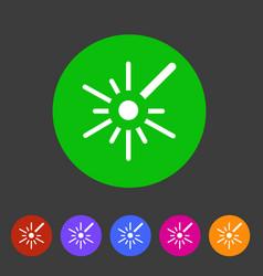 laser black icon flat web sign symbol logo label vector image vector image