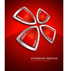 security shield symbol icon vector image