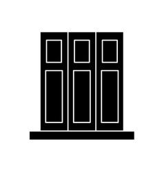 silhouette set book folder office elements design vector image vector image