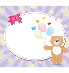 Teddy bear with balloons vector