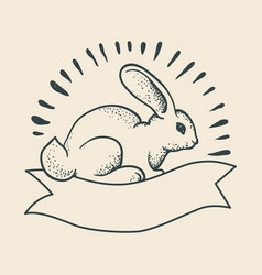 a rabbit drawing vector image