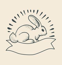 A rabbit drawing vector