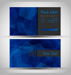 abstract business card front and back vector image