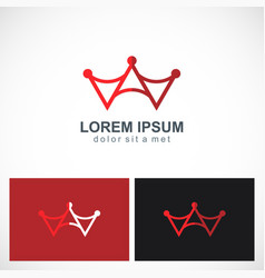 abstract crown letter a logo vector image