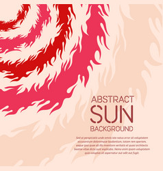 Abstract geometric background with sun theme vector